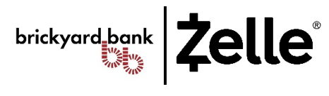 Brickyard and Zelle Logos